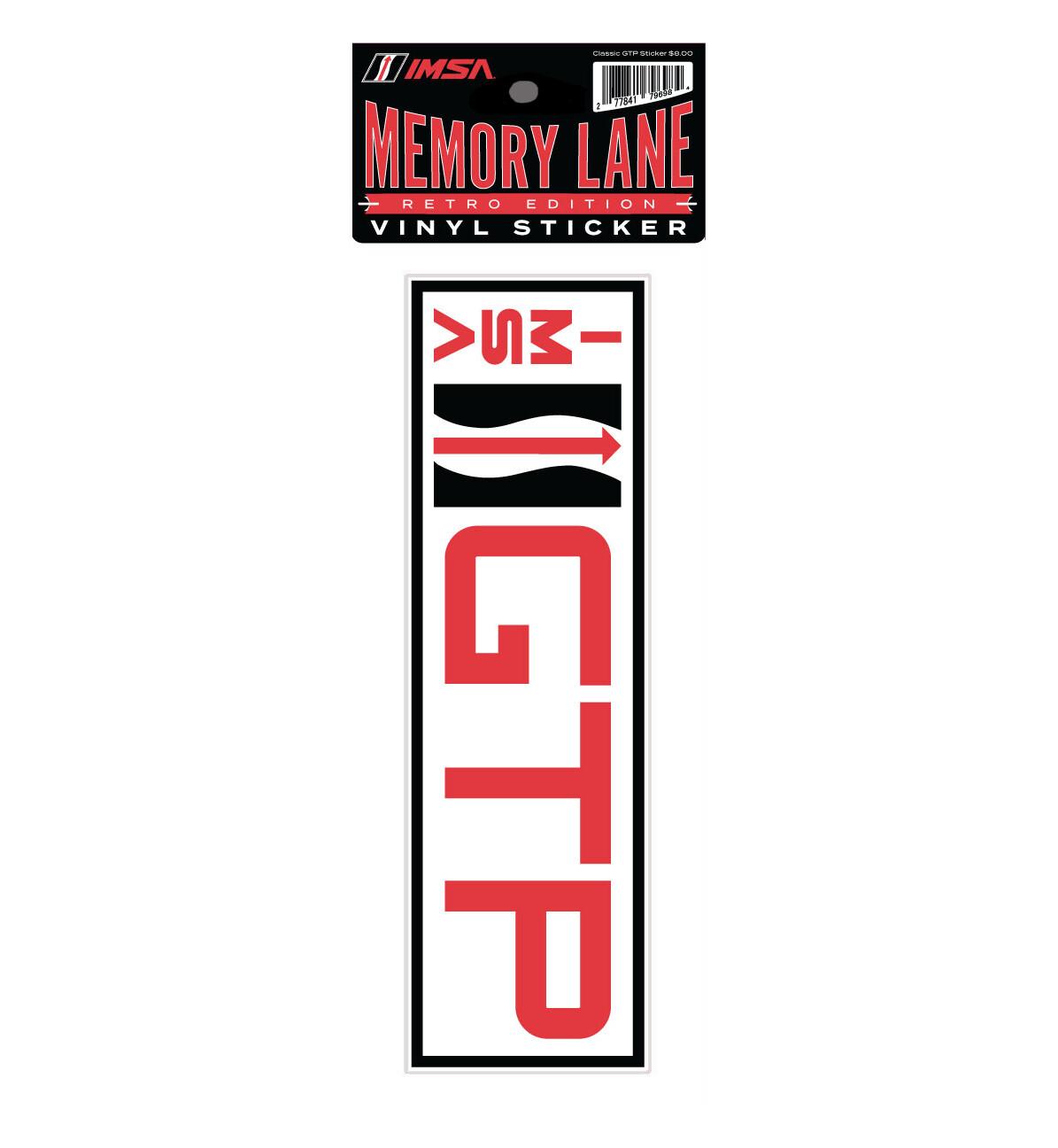 IMSA GTP Vinyl Decal 9 x 2.75