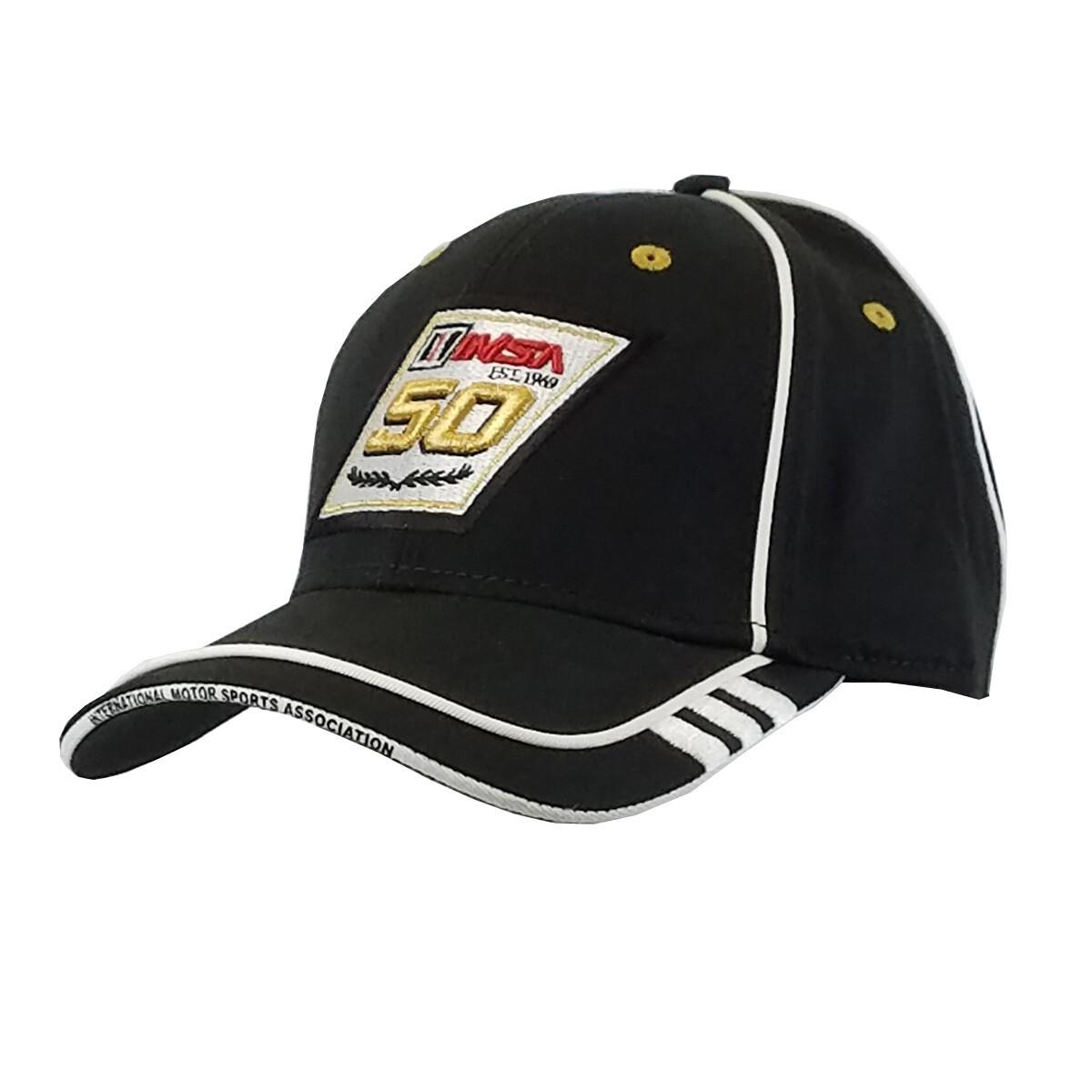 IMSA 50th Anniversary Blk Hat/Wh Piping