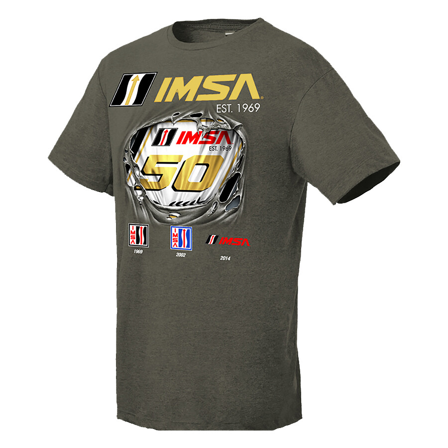 IMSA 50th Breakout Tee - Olive Heather