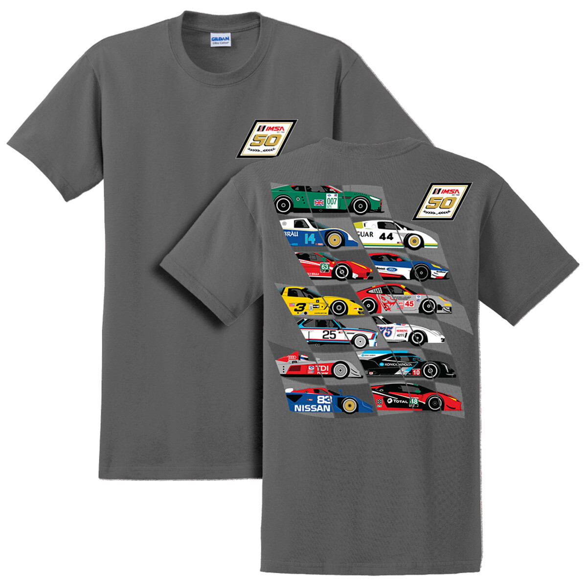 50th Car Montage Tee Charcoal
