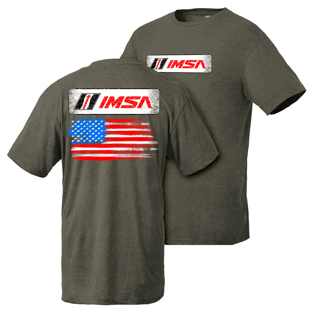IMSA Flag Design Tee - Olive Heather