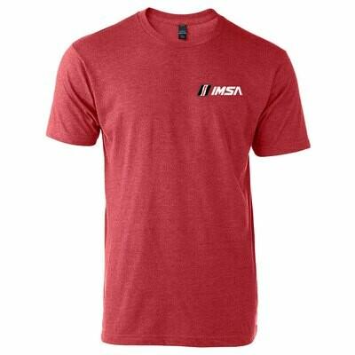 IMSA LC Logo T-Heather Red