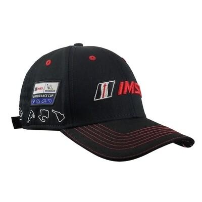 IMSA Track Outline Hat-Black/Red