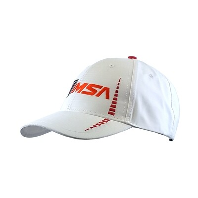 IMSA Logo Poly Cap - White/Red
