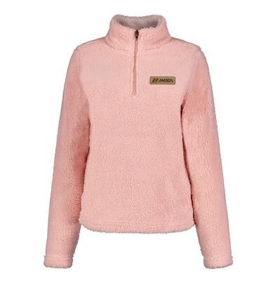 Ladies Sherpa 1/4 Zip Pink