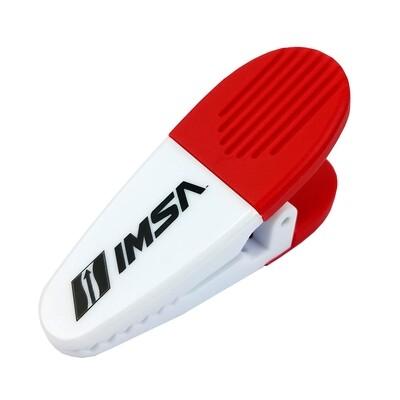 IMSA Clip Magnet - White/black