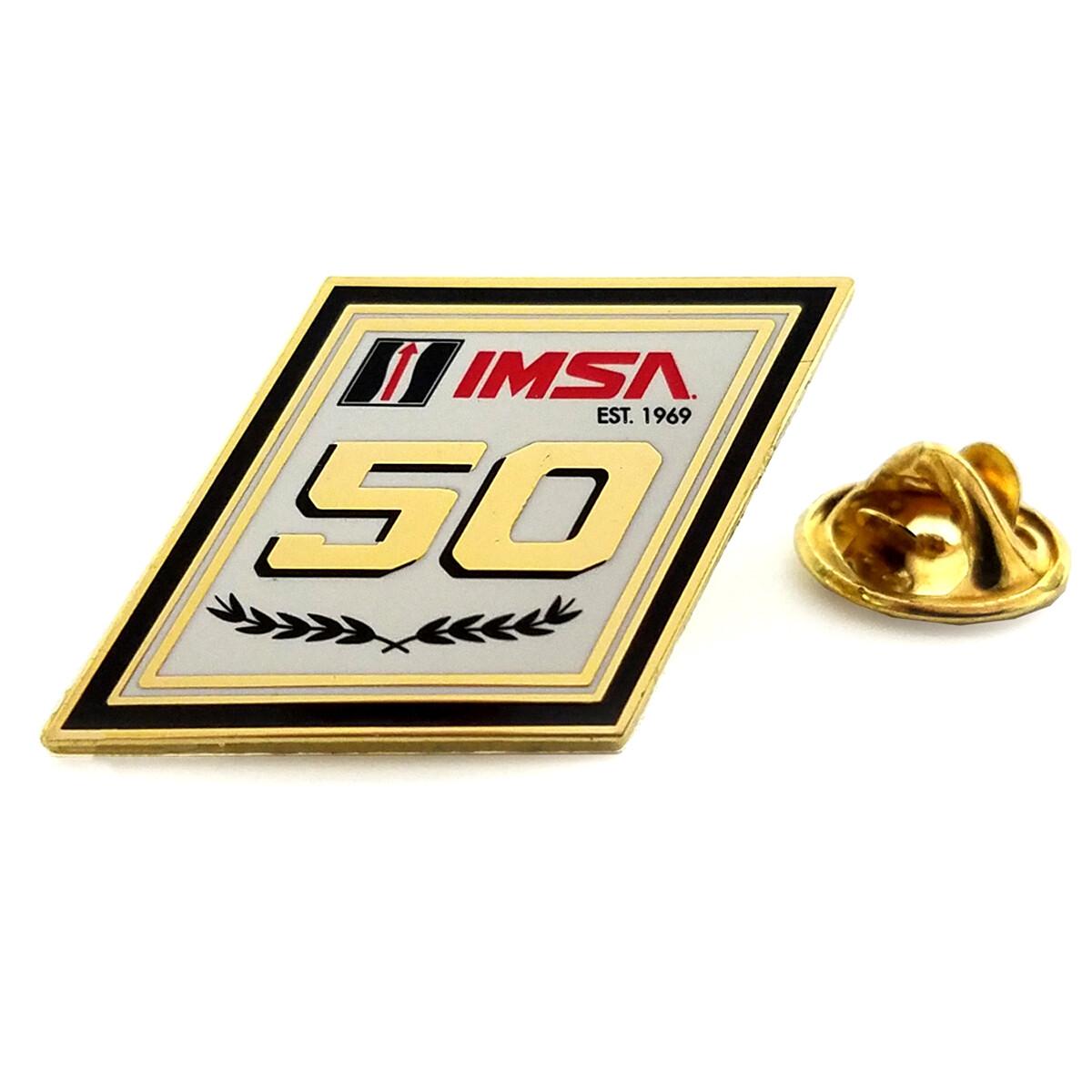 IMSA 50th Anniversary Lapel Pin