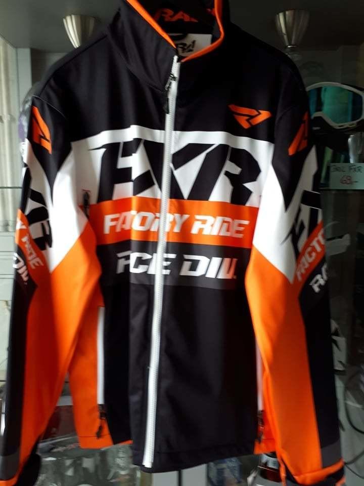 FXR jas oranje/zwart/wit