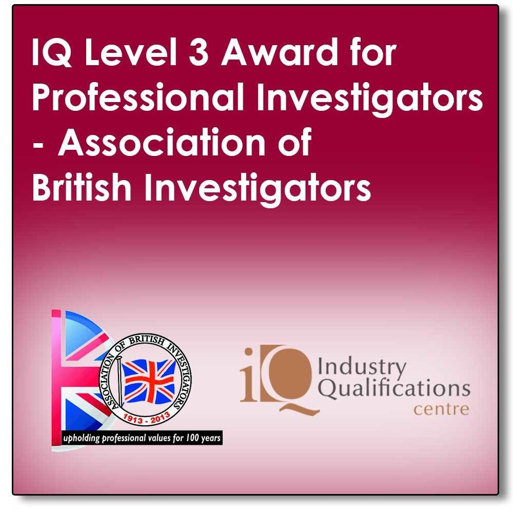 A 5 day full tutor programme leading to a final exam to achieve an industry recognised qualification in Professional Private Investigations (The SFJ IQ Level 3 Award for Professional Investigators)