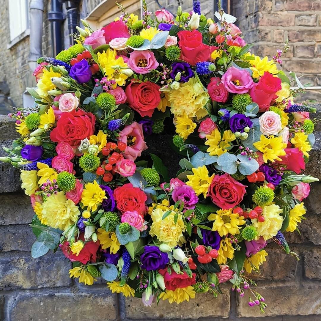 Bright and vibrant wreath