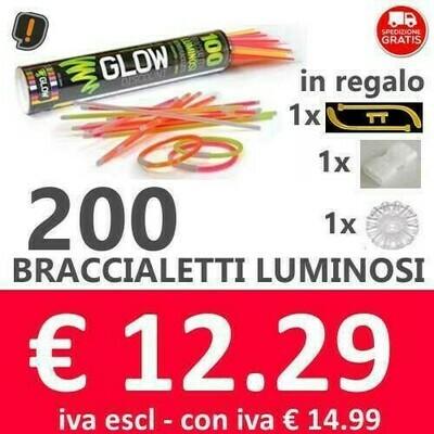 🔥 Braccialetti Luminosi 200 pz SPEDIZIONE GRATIS