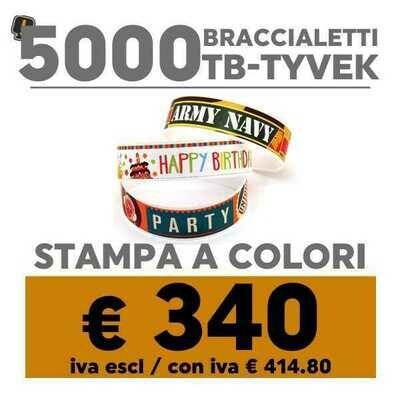 🔝 5000 Braccialetti TB-Tyvek® Stampa a Colori | SPEDIZIONE GRATIS
