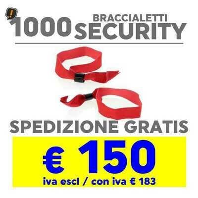 1000 Braccialetto Security SPEDIZIONE GRATIS