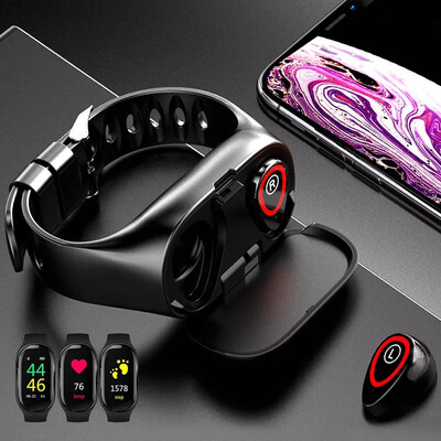 2 In 1 Bluetooth Headset & Smart Watch