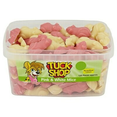 Tuck Shop Pink & White Mice 120 Pieces 840g