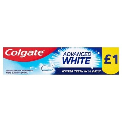 Colgate Toothpaste Advanced White 50ml PMP £1