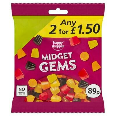Happy Shopper Midget Gems 160g