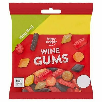 Happy Shopper Wine Gums 160g