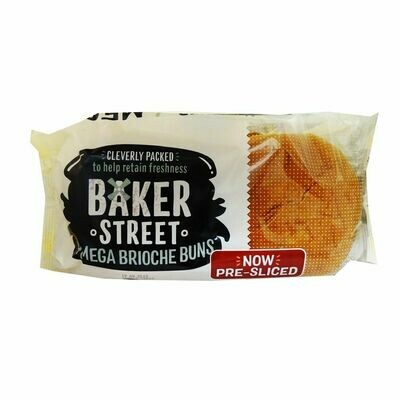 Baker Street Brioche Mega Buns Pre-Sliced