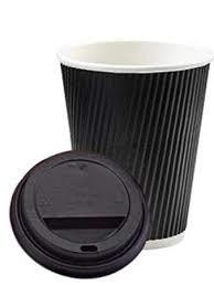 12oz Ripple Cup Black 1x25's