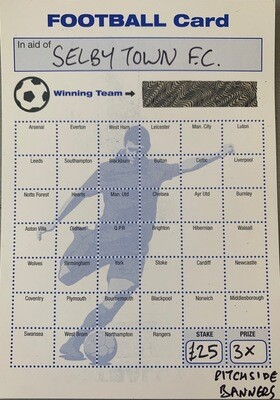 Pitch-side banner Football Card game