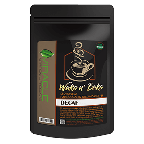 Wake N Bake CBD Organic Ground Coffee Decaf