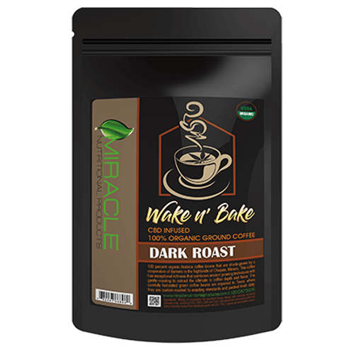 Wake N Bake CBD Organic Ground Coffee Dark Roast