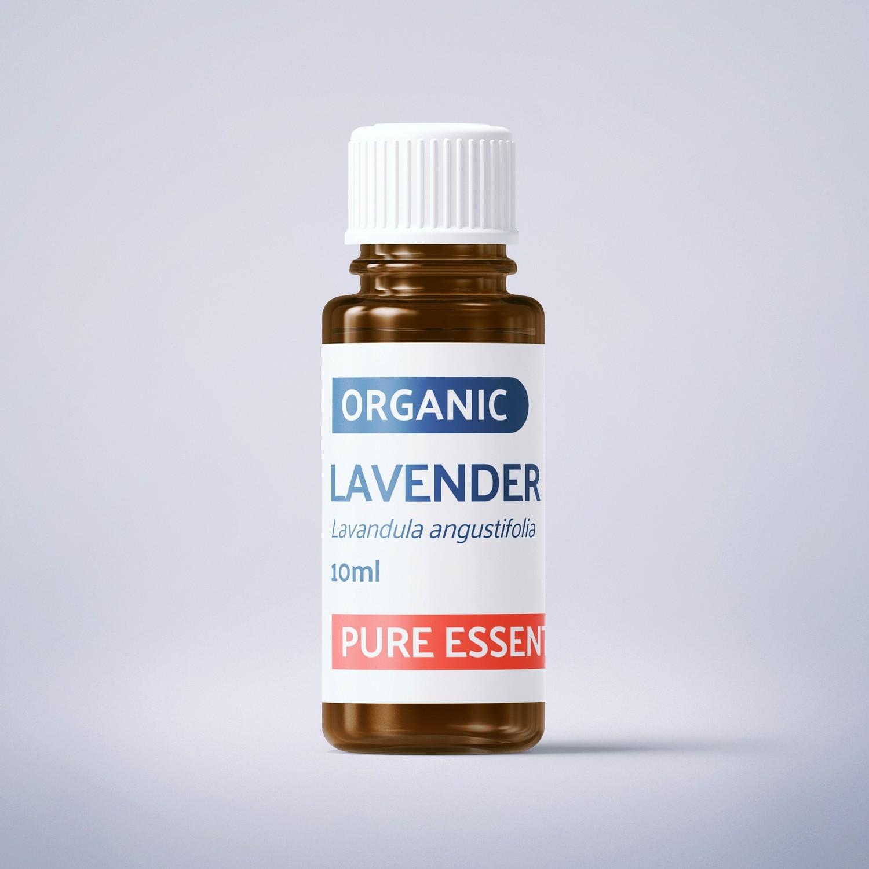 Organic Fine Lavender - 10ml - 100% Pure Essential Oil