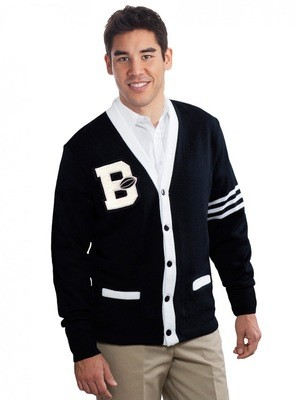 5 BUTTON VARSITY CARDIGAN SWEATER