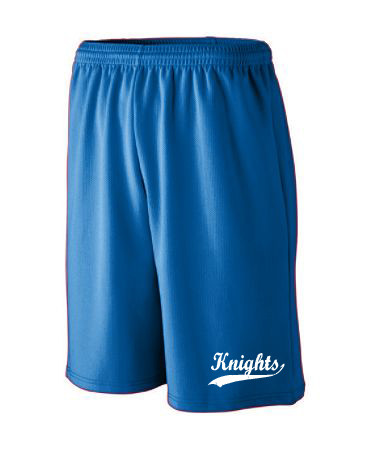 LONG LENGTH WICKING MESH ATHLETIC SHORTS