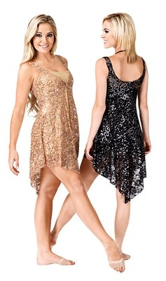 SEQUIN & LACE OVERDRESS