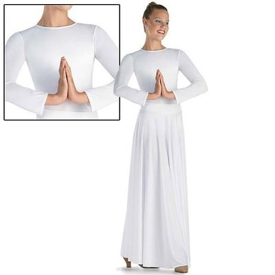 LONG SLEEVE LEOTARD WITH WORSHIP SKIRT