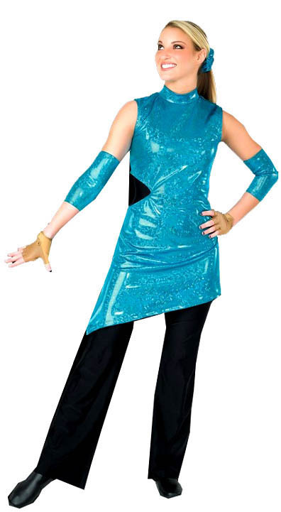 PRISM TEAL DOUBLE CUT TUNIC