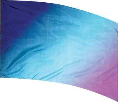 NAVY, AQUA & PURPLE MULTI SHADED FLAG