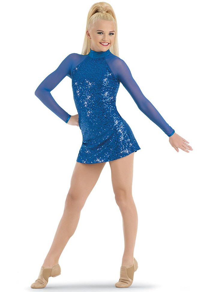 SEQUIN PERFORMANCE TUNIC DRESS