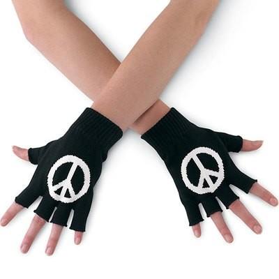 FINGERLESS GLOVES  W/ PEACE SIGN