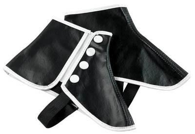 BLACK VINYL SNAP SPATS