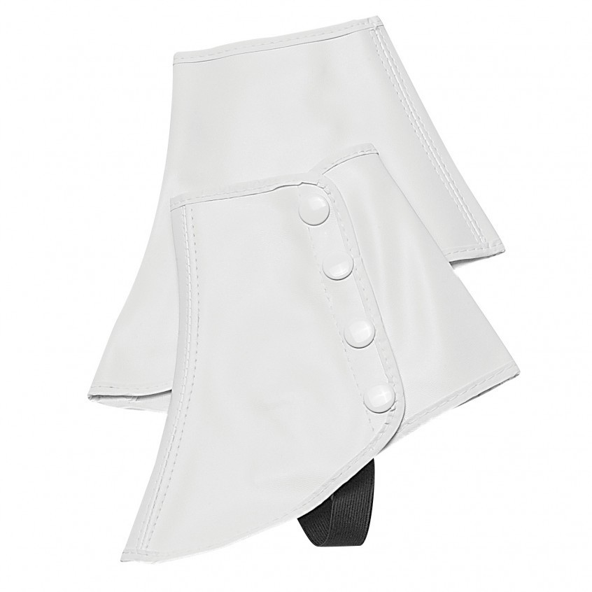 WHITE VINYL SNAP SPATS