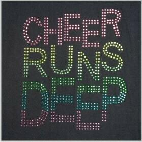 CHEER RUNS DEEP RHINESTONE
