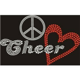 PEACE LOVE CHEER RHINESTONE