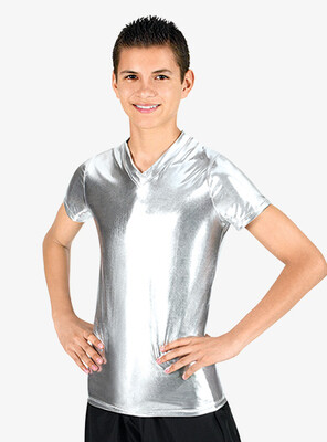 Men's Metallic V-Neck Shirt