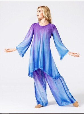 WORSHIP LONG SLEEVE WATERCOLOR TUNIC