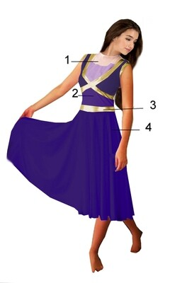 LYRICS COLOR GUARD DRESS