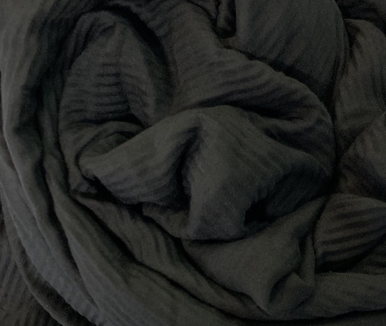Soft Crinkle Chiffon Black