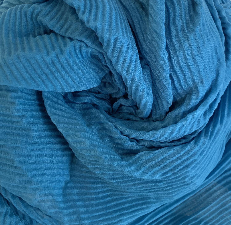 Soft Crinkle Chiffon Curlean Blue