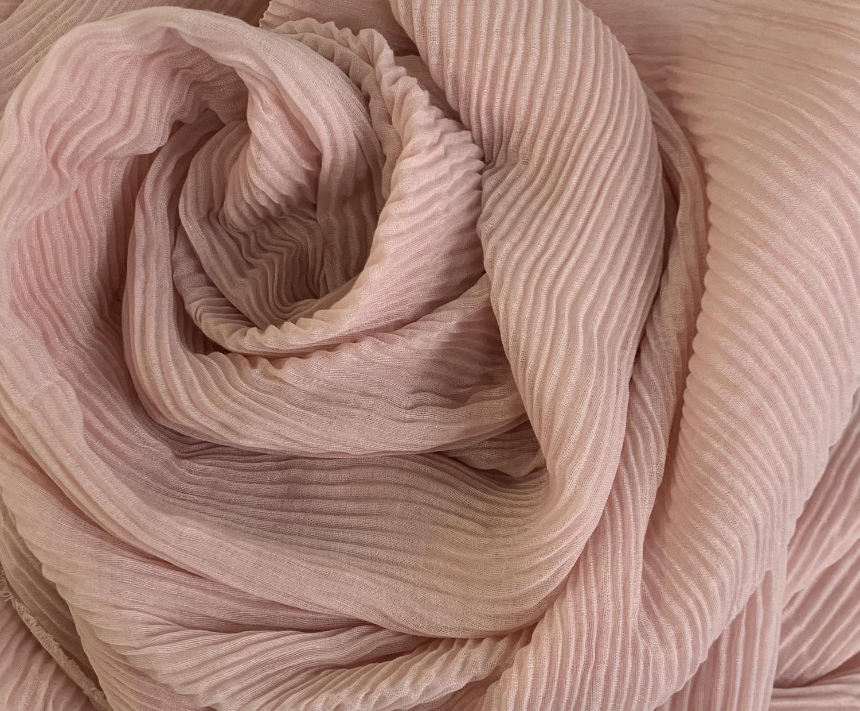 Soft Crinkle Chiffon Pearl Pink