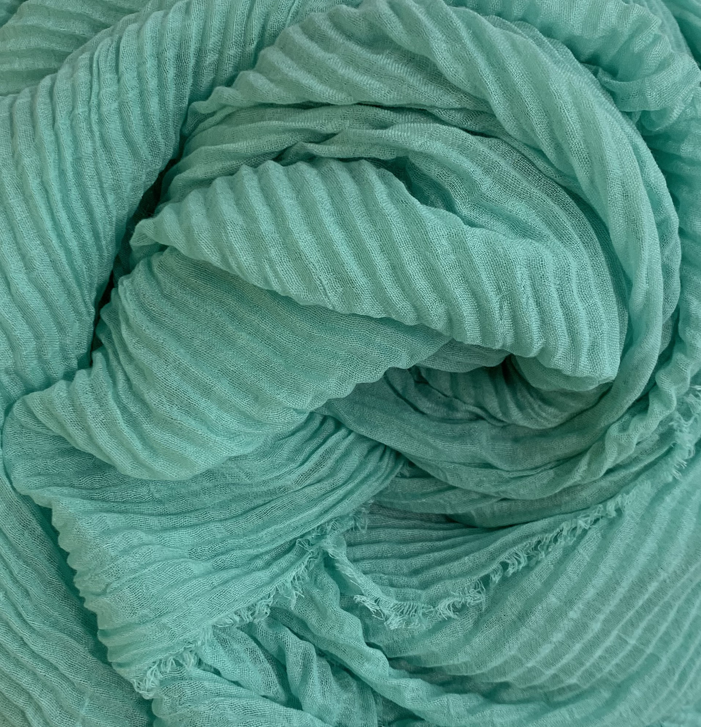 Soft Crinkle Chiffon Teal Green
