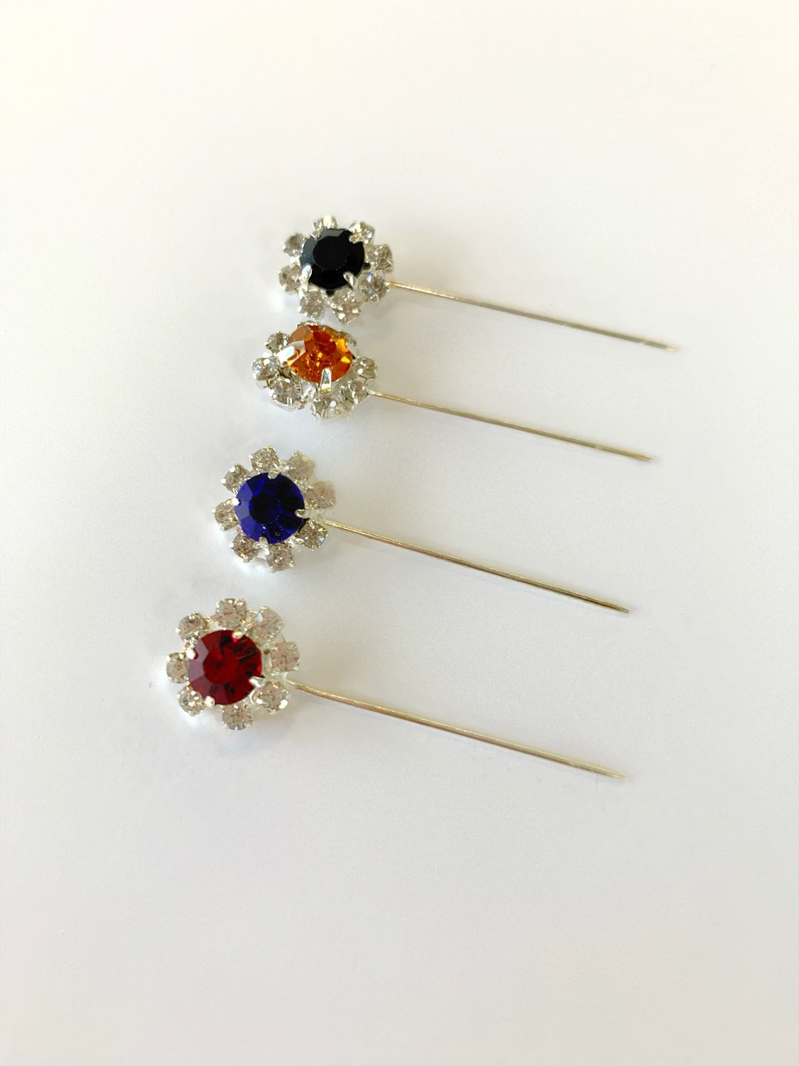 Flower Shape Pins Pack of 12