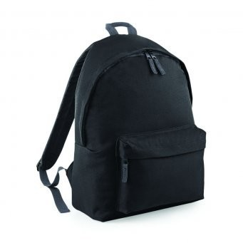 Backpack branded with school badge