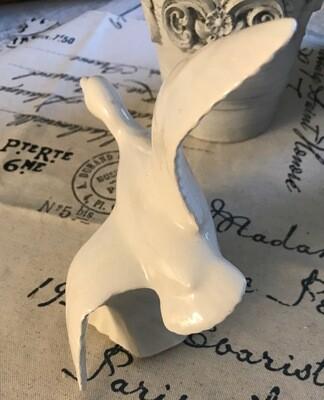 Vintage Ceramic White Flying Duck Figurine